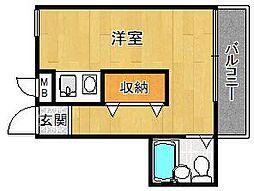 ダイドーメゾン武庫之荘6[406号室]の間取り
