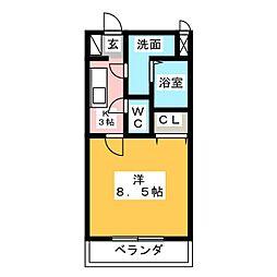 マンションアルティア[3階]の間取り