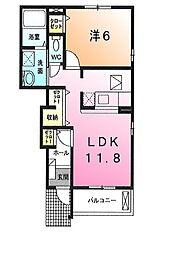 クローヴB[1階]の間取り