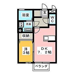 セジュールT・M[1階]の間取り