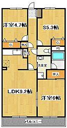 ランドロードU A棟[105号室]の間取り