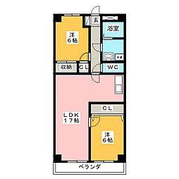 STプラザ御器所[8階]の間取り