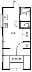 みのり荘[1階]の間取り