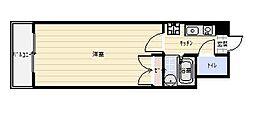 F's flats古船場[806号室]の間取り