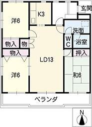松崎パストラルコート[2階]の間取り