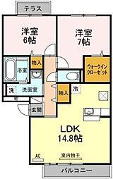 セレーノ壱番館[1階]の間取り