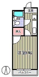 ガーデンササキ[5階]の間取り