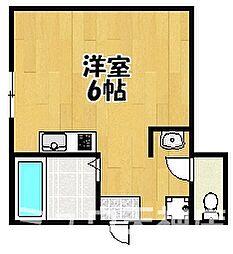 福岡県福岡市中央区春吉2丁目の賃貸アパートの間取り