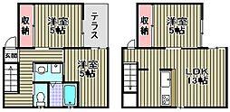 [一戸建] 大阪府和泉市池田下町 の賃貸【/】の間取り