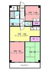 第3サンライズマンション[207号室号室]の間取り