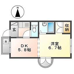 第三貞和ビル[8階]の間取り