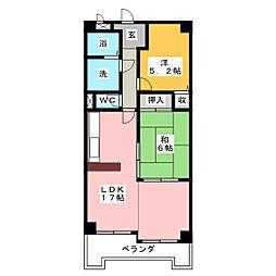 サンモール玉の井[4階]の間取り