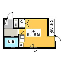 プルミエ静岡パート1[3階]の間取り