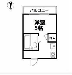 メディア京山[3階]の間取り