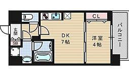 セイワパレス京町堀[13階]の間取り