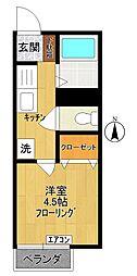 ハイツソラーナII[2階]の間取り
