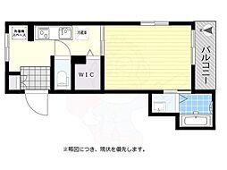 京王線 八幡山駅 徒歩4分の賃貸マンション 3階1Kの間取り