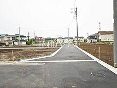接道状況および現場風景 武蔵村山市三ツ木2丁目