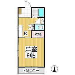 アップルコーポ A棟[2階]の間取り