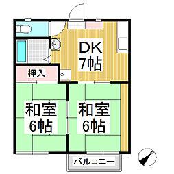 サンバリエ21[1階]の間取り