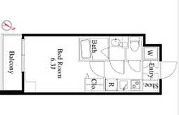 京王線 笹塚駅 徒歩4分の賃貸マンション 7階1Kの間取り