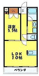 クイーンズテラス[3階]の間取り