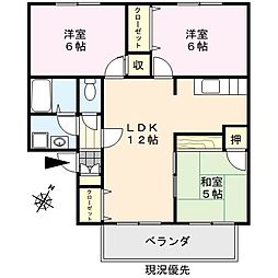 セジュール鳥飼[2階]の間取り