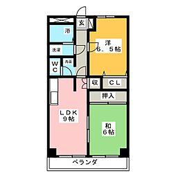ピュアストリート[3階]の間取り