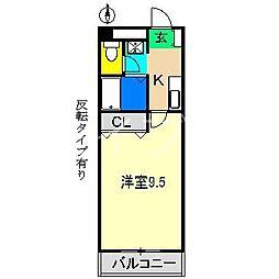 エポカ大川筋[5階]の間取り