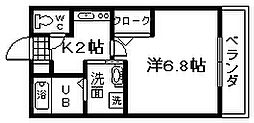 セジュール加守田SE[202号室]の間取り
