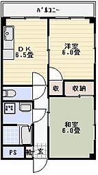 メゾンコム[304号室]の間取り