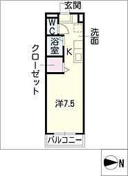PLUSSUM COAST港[2階]の間取り