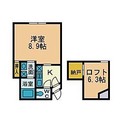 ハウスシードIII[1階]の間取り