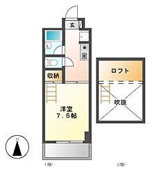 クレイタスパークII[2階]の間取り