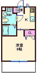 ロイヤルメゾン[1階]の間取り