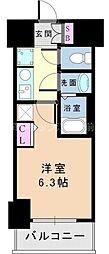 JR東海道・山陽本線 新大阪駅 徒歩5分の賃貸マンション 4階1Kの間取り