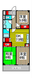 ラ・ティーグル[2階]の間取り