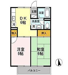 東京都練馬区石神井町5丁目の賃貸アパートの間取り