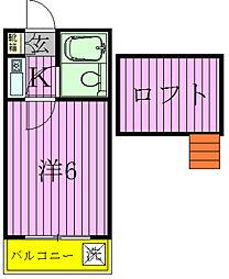 ジュネパレス松戸第91[2階]の間取り