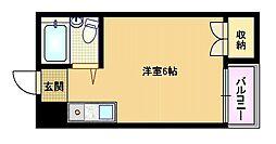 京阪本線 野江駅 徒歩4分の賃貸マンション 3階ワンルームの間取り