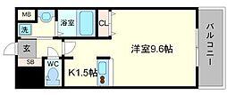Lalaplace新大阪LD(ララプレイス新大阪LD)[6階]の間取り