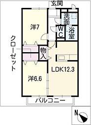 パレ・ガルニエ WEST[1階]の間取り