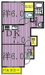 プリマベラノ[1階]の間取り
