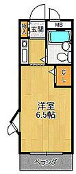 ジョイフル武庫之荘1[403号室]の間取り