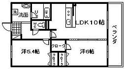 サン・リヴァージュ岸和田[303号室]の間取り