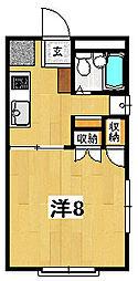 シーサイドヴィラ15[1階]の間取り