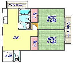 高羽マンション[401号室]の間取り