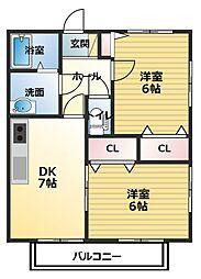 サンガーデン下林6[1階]の間取り