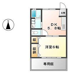 愛知県名古屋市東区橦木町3丁目の賃貸アパートの間取り