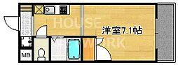 フォスマット松ヶ崎[206号室号室]の間取り